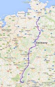 Obermumpf bis Hamburg