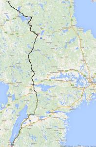 2015-06-30-Jönköping bis Älvdälen (Teils von Hand gezeichnet, da GPS ohne Baterie nicht funktioniert...)