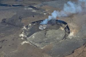 Blick in den Kilauea Krater
