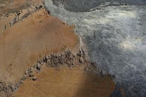 Rand des Pu'u 'O'o Kraters, Messtationen mit Solarzellen