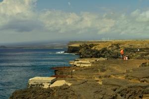 Am Ka Lae (South Point), Windturbinen hinten