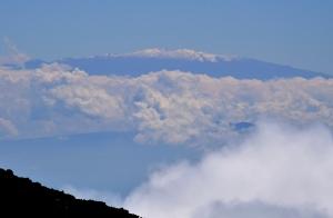 Blick auf Mauna Kea (Big Island) 80 Meilen Distanz